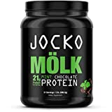 Jocko Mölk - 100% Grass-Fed Whey Isolate Protein Powder - Mint Chocolate Flavor - Sugar-Free Monkfruit Blend - Amino Acids and Probiotics - 31 Servings - 2 Pounds