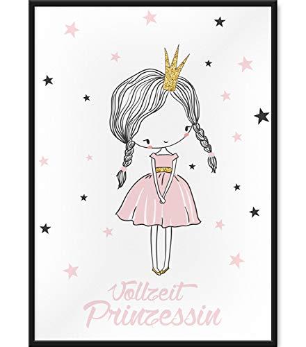 Papierschmiede Kinderposter | DIN A3 | Wanddeko fürs Kinderzimmer | Jungen Mädchen | Bilder für den Bilderrahmen | Vollzeitprinzessin
