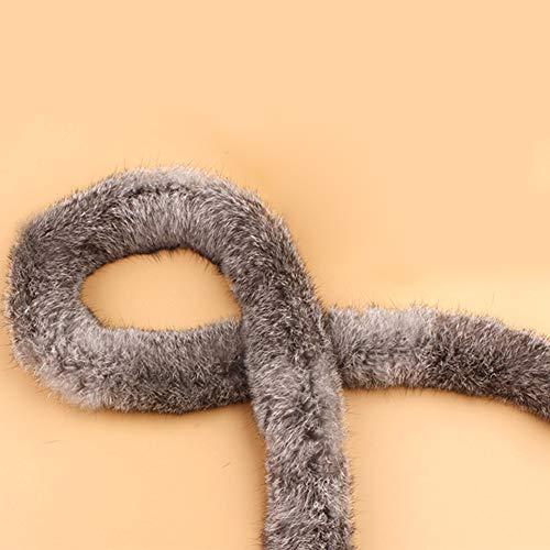 Modonghua Cinta de pelo sintético de 1 m, accesorios de piel de conejo artificial, costura para disfraces, manualidades, capucha y abrigos, cintas de accesorios de piel de conejo artificial