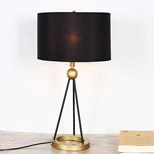 N/Z Equipo para el hogar Lámpara de Mesa con trípode de Hierro Forjado Negro Minimalista Moderno Sala de Estudio nórdica Sala de Estar Decoración de Oficina Lámpara de Mesa 35 * 67 (cm)