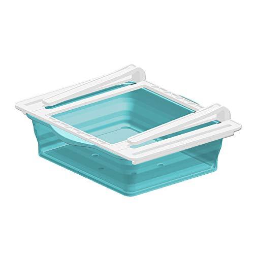 Frigoríficos Organizadores de Cajones, Caja de Almacenamiento retráctil para Refrigerador Ordenado Estante (azul)