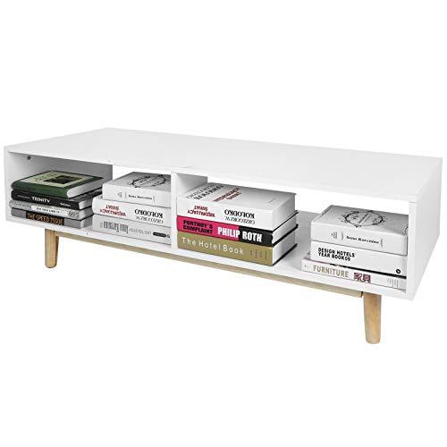 Cikonielf - Mueble de TV con 2 compartimentos, aparador bajo televisor, grabador de DVD para salón, sala de juegos, 48 x 120,5 x 40 cm