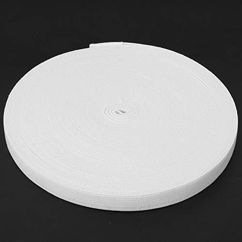 Emoshayoga Poliéster Banda elástica Banda de Goma Costura Ropa Accesorios de Vestir para Manualidades Artesanía(White, 15mm Wide)