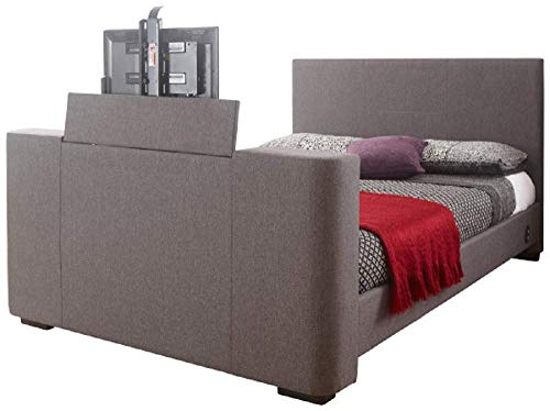 GFW - The Furniture Warehouse Newark Grey Fabric Electric Tv Bed (5ft Kingsize)