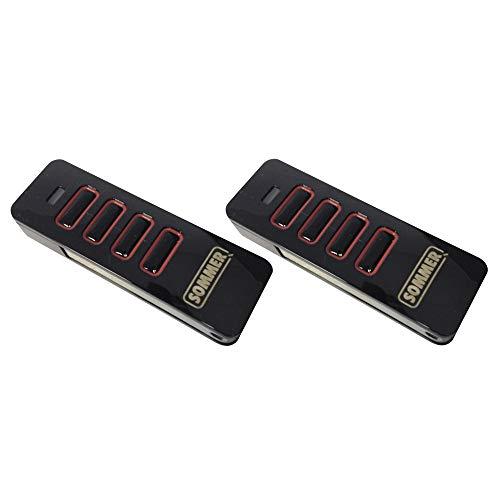 2 x Sommer Handsender Pearl 4018 4018V000 TX55-868-4 Funksender Garagentor Fernbedienung 868,8 Mhz 868,95 Mhz Base+ Pro+ Teckentrup Drive - kompatibel 4020 4026 4031 Slider+