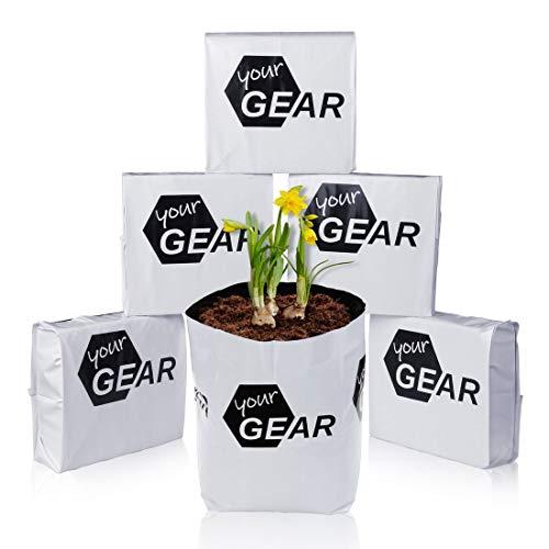 your GEAR 12x 12 L Coco Grow Bag 12x 1kg gepresste Kokoserde Aussaat Beutel Kokosfaser Pflanzbeutel Anzucht Blumenerde ungedüngt torffrei