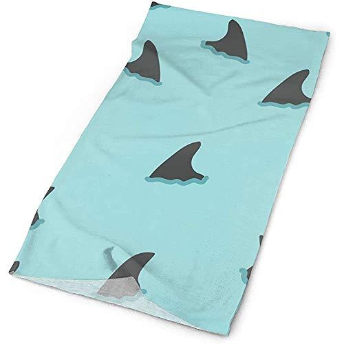 Quintion Robeson Patrón de Aleta de tiburón Headwrap Unisex Multifunción Headwear Poliéster...