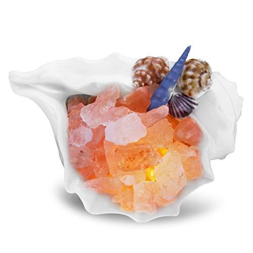 Lfixhssf Shell zoutlamp Himalaya zoutkristal creatief zout lamp natuur zout kristal bedlampje geschenk verjaardag Europese Lfixhssf
