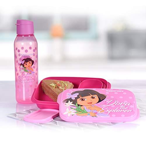 Tupperware Kids Plastic Dora Lunch Set, Pink