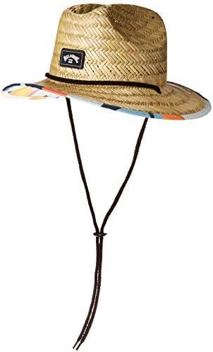 Billabong Boys Tides Print Straw Lifeguard Hat Sky Blue ONE product image