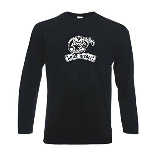 Longsleeve St. Pauli kniet nieder Ihr Bauern Fan Städteshirt, Herren Langarm T-Shirt, bedrucktes Langarmshirt auch große Größen (SFU12-06b) L