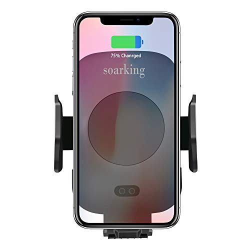 Fast Wireless Car Charger Mounts Dashboard Windshield Car Phone Mount Holder,Air Vent Phone Holder iPhone Qi Certified C9 Compatible with iPhone Xs Xr Xs Max Phone 8 x Note9 Not8 S9 Soarking