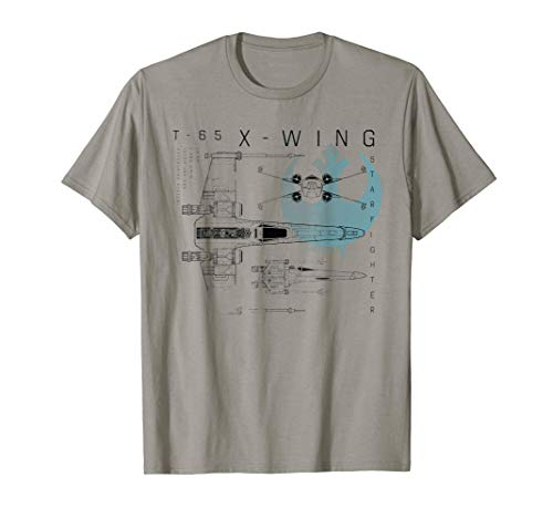 Star Wars Rebel X-Wing Starfighter Schematic T-Shirt