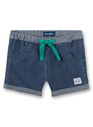 Sanetta Baby - Jungen Shorts Shorts , Blau (Mid Blue 9590) , 86