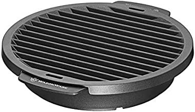 Nonstick Grill Pan For Stove Top - Smokeless BBQ Griddle Grilling Pan For Steak, Fish, Chicken & Vegetables 12 Inches, Black - WaxonWare