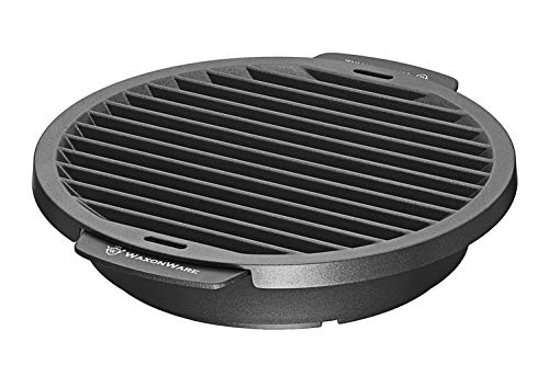 WaxonWare Nonstick Grill Pan For Stove Top - Smokeless BBQ Griddle Grilling Pan For Steak, Fish, Chicken & Vegetables 12 Inches, Black
