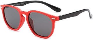 Gosunfly - Gafas de sol para niños de moda polar square box sunglasses-C1-red frame black leg_Gray tablet