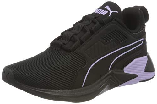 PUMA 193744, Zapatillas de Gimnasio Mujer, Black Light Lavender Negro, 39 EU