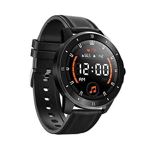 Smart Watch Heart Rate Blood Pressure Sleep Monitoring Sports Watch Local Music Play IP68 Waterproof-Black 2