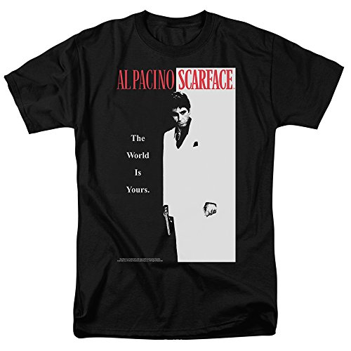 Popfunk Scarface The World is Yours T Shirt & Stickers (Large) Black