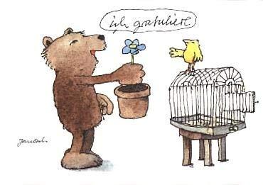 Janosch Postkarte Ich gratuliere