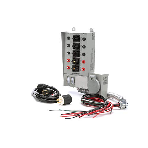 Reliance Controls 31410CRK Pro/Tran 10-Circuit 30 Amp Generator Transfer Switch Kit,Gray