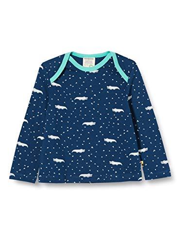 loud + proud Jungen Longsleeve Shirt Allover Print Organic Cotton Langarmshirt, Blau (Ultramarin Ul), (Herstellergröße: 62/68)
