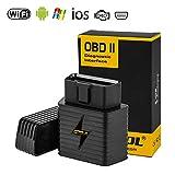 Wireless OBD2 WiFi Strumento Diagnostico Auto, AUTOOL OBDII Scanner ELM327 WiFi e Adattatore per Android & iOS & Windows,