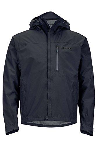 Marmot Men's Minimalist Lightweight Waterproof Rain Jacket, GORE-TEX with PACLITE Technology, Medium, Jet Black