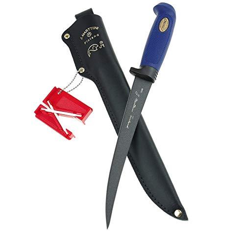 Marttiini Martef Filetiermesser 30,6cm, beschichtet, extrem scharf & flexibel + LANSKY Crock Stick Messerschärfer/Filleting Knife & Sharpener Combo