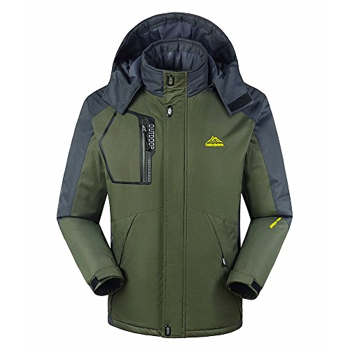 Lixada Winddichte Softshell Jacke wasserdichte Lauf- Fahrradjacke Herren Jacket Outdoor Funktionsjacke (Grün, 2XL(CN)=XL(EU))