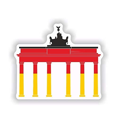 14.2Cm * 12Cm Lustige Deutschland Flagge Mit Brandenburg Fenster Auto Aufkleber Aufkleber Autozubehör