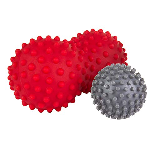 Laser Sports Spike Peanut Roller & Hedgehog Foot Massage Ball Set - Ideal for Muscle Deep Tissue, Trigger Point and Myofascial Release, Plantar Fasciitis, Concentrated Pressure, & Targeted Pain Relief