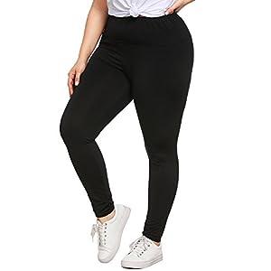SHOBDW Mujer Moda Talla Grande Cintura Sexy Leggings Capri Fitness Mallas para Correr Deporte Gimnasio Entrenamiento Pantalones Yoga Deporte Pantalones Deportivos Deportivos(Negro,4XL)