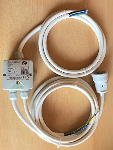 Power Splitter Herdverteiler Stromverteiler Küchenverteiler Küchen Anschluss Box Backofen Kochfeld Herdanschlusskabel