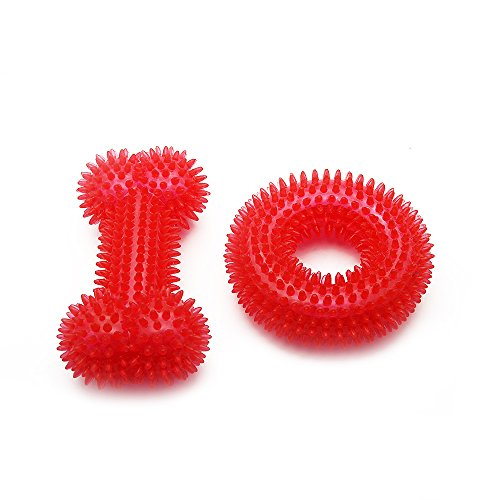 PET SPPTIES Squeak Toy Bouncy Pet Chew Toy para Perros pequeños, medianos y Grandes EU-CW022 (2PCS Red)
