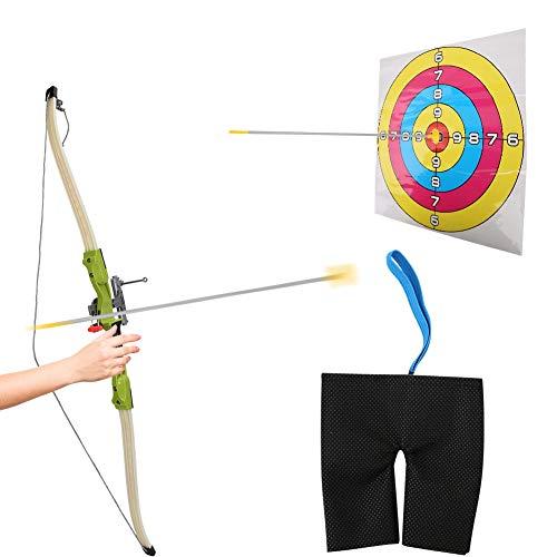 VGEBY1 Juego de Tiro con Arco, Juego de Juguete de Arco de Flecha Durable ABS con Objetivo de puntaje de Ventosa para Juego de Deportes al Aire Libre para niños