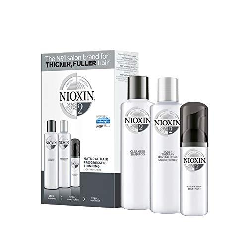 NIOXIN - Trial Kit de 3 pasos - Tratamiento para Cabello Natural con Pérdida de Densidad Progresiva (Champú 150 ml - Acondicionador 150 ml - Tratamiento 50 ml) - Sistema 2