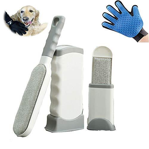 Lapeno - 2 en 1 Cepillo para Eliminar pelos de Mascotas y Guante de Aseo para Mascotas, Muebles, Limpiador de Pelo, Guantes de Masaje para Perros y Gatos
