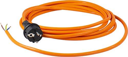 as - Schwabe PUR Baustellen-Anschlussleitung 3 m – Robuste Leitung 230 V, 16 A mit Polyurethan-Außenmantel H07BQ-F 3Gx1,5 Schuko-Stecker, EIN Ende abgemantelt – IP44 – Made in EU I 70909, 3G1,5