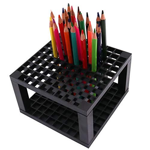 U/N Portalápices de 96 Agujeros, Soporte de acrílico para bolígrafos, Soporte de Escritorio, Organizador para lápices, Pinceles, marcadores, exhibición y Almacenamiento en el hogar