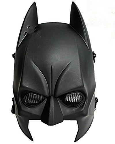 WorldShopping4U Tech-p Batman Maske Airsoft Cs Wargame Feld Halbkopfmaske Armee Cosplay Schablone Gang Schützen