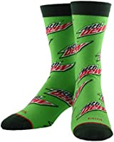 Cool Socks, Unisex, Food, Pepsi and Mountain Dew, Crew Socks, Novelty Funny Silly