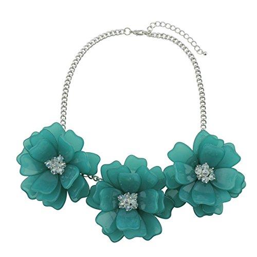 Bocar Conjunto de collar de flores hecho a mano para mujer