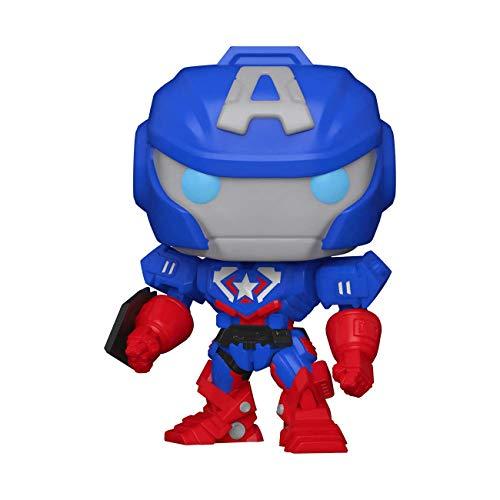Funko - Pop! Marvel: Mech-Captain America Figurina in Vinile, Colore Multicolore, 55233
