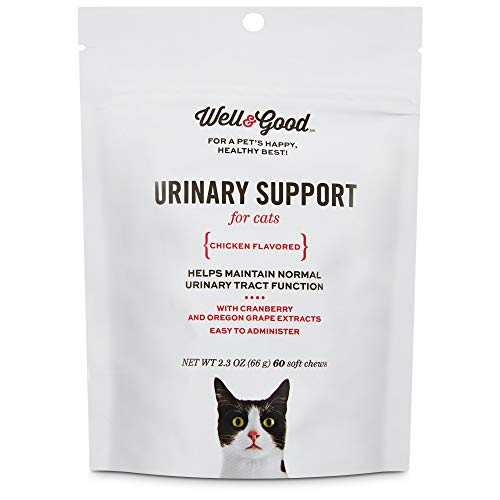Well & Good Urinary Support Cat Chews, Pack of 60 Chews, 2.3 OZ