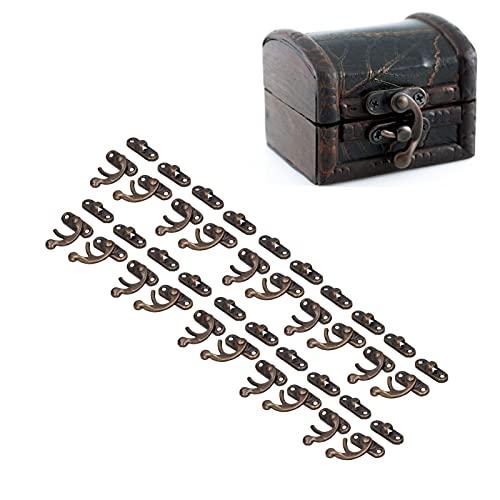 Cierre de gancho para caja, no es fácil de oxidar Cierre de hardware de diseño de brazo oscilante para cajas de regalo para cajas de joyería