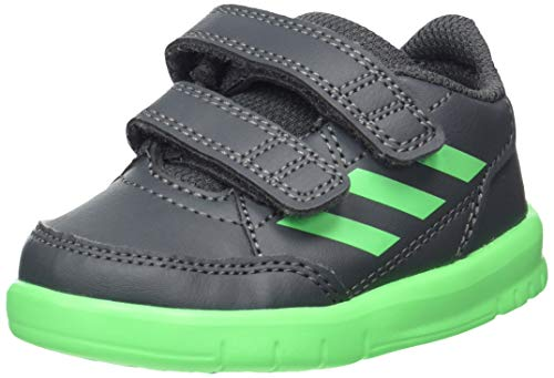 adidas Jungen Unisex Kinder AltaSport Cf I Gymnastikschuhe, Grau (Grey Six/Shock Lime/FTWR White Grey Six/Shock Lime/FTWR White), 22 EU