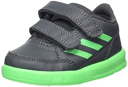 adidas Unisex Kinder AltaSport Cf I Gymnastikschuhe, Grau (Grey Six/Shock Lime/FTWR White Grey Six/Shock Lime/FTWR White), 22 EU