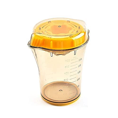 Exprimidor manual portátil con taza graduada de medición Exprimidor de frutas Taza de jugo (Color: Naranja, Tamaño: 13.1x15.6cm)